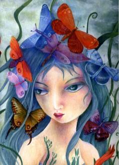 Quaderno illustrato da Cinzia Bardelli la fata del cielo infinito