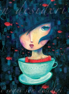 Quaderno illustrato da Cinzia Bardelli i sogni son desideri