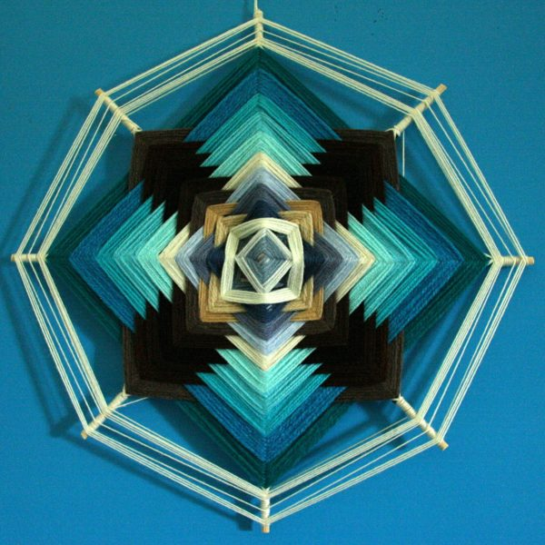 Mandala frecce blu